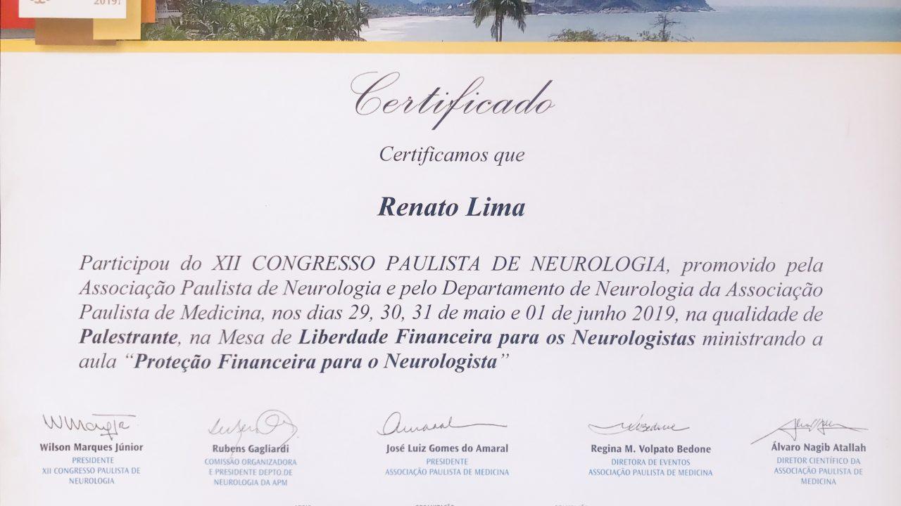 Palestra Congresso de Neurologia – SP